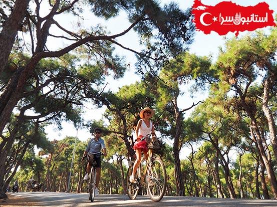 دوچرخه سواری در جزیره بیوک آدا,حمل و نقل در جزیره آدالار,دیدنی های بیوک آدا