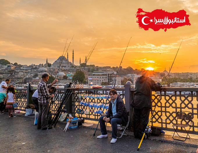منظرهمسجد جدیدYeni Camii,غذاهای ارزان و خوشمزه ی ترکی,Istanbul Galata Köprüsü