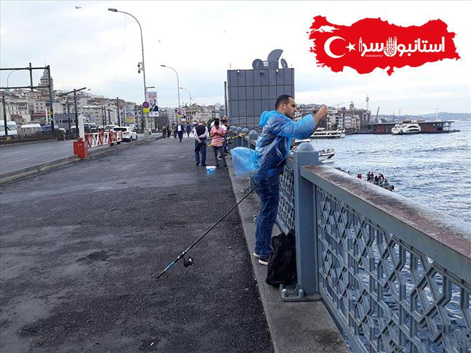 مسابقه ماهیگیری در پل گالاتا استانبول,جاذبه های گردشگری استانبول,پل زیبای گالاتا