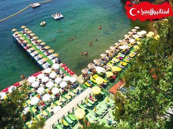 شنا در جزیره بیوک آدا,شنا در پلاژهای جزیره آدالار,تفریحات جزیره در استانبول