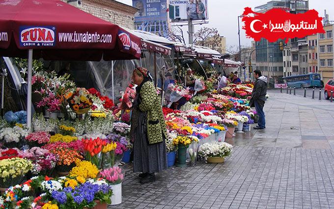 گل فروشی های متعدد,نماد ارتش ترکیه,میدان تکسیم قلب استانبول,Taksim